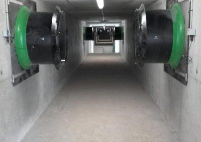 Installation en élevage porcin d'un module vortex ATM de chez FANCOM
